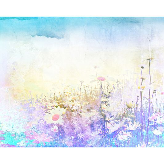 Hazy Meadow Wall Ready Made Mural, , large