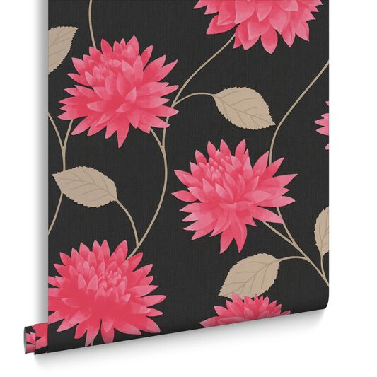 Romance Black and Pink Wallpaper, , large