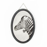 Ziggy Zebra Printed Canvas Wall Art, , large