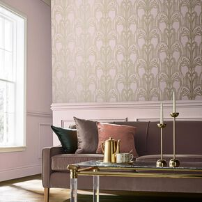 Art Deco Blush Wallpaper, , large