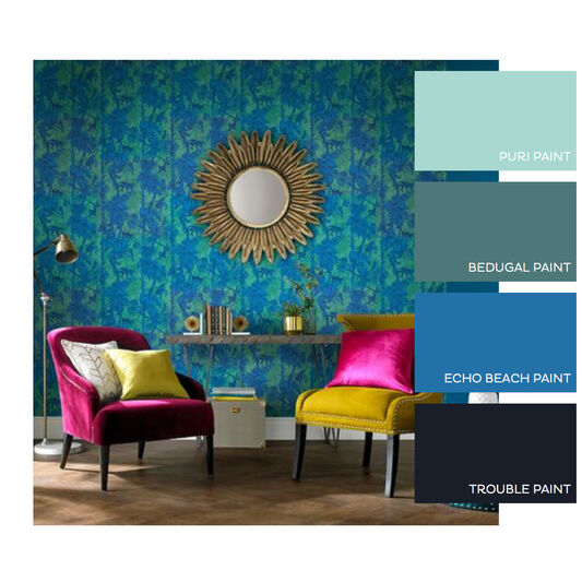 Ubud Tropic Wallpaper, , large