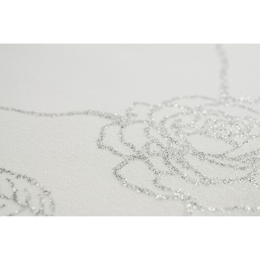 Rose Silver Wallpaper, , large