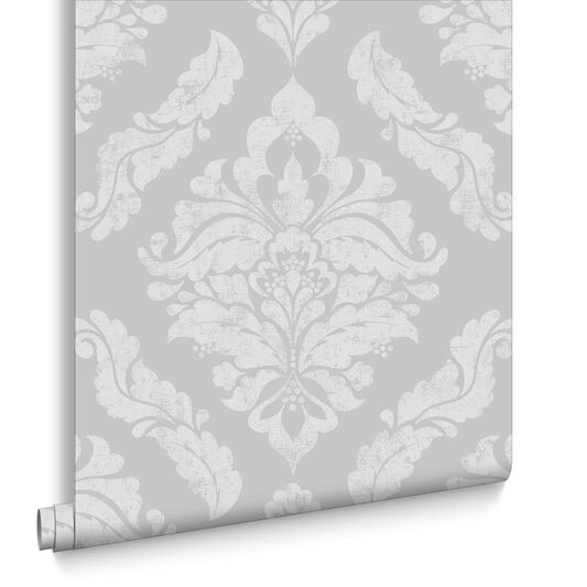 Damaris Silver Wallpaper, , large