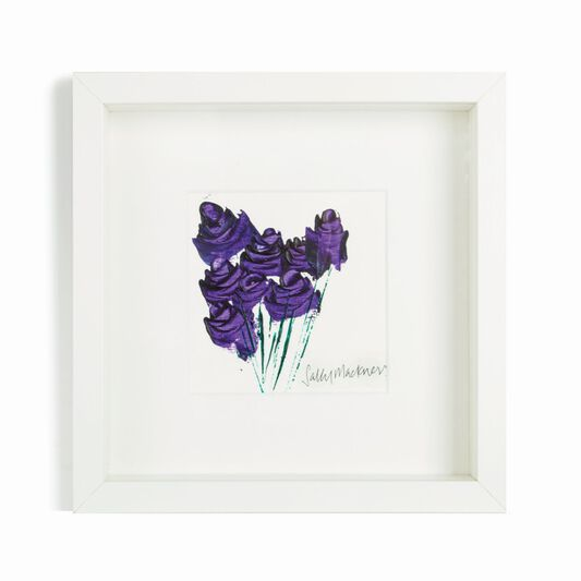 Sally Mackness Purple Roses Hand Painted Framed Wall Art, , large