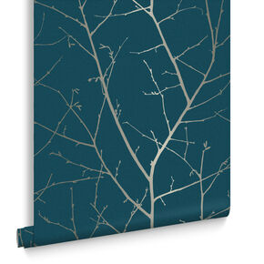 Boreas Teal Wallpaper, , large
