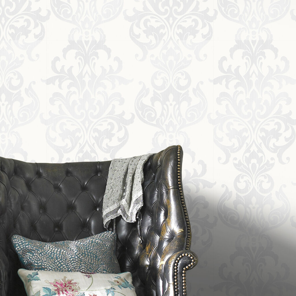 Versaille  White Wallpaper, , large