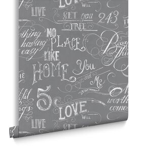 Chalk Board Gray Wallpaper , , large