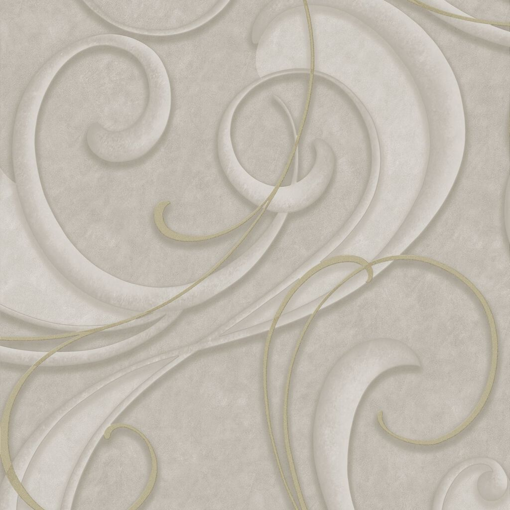 Flamenco Taupe and Champagne Wallpaper, , large