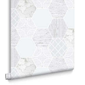Hexagonal Marble Wallpaper , , large