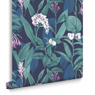 Botanical Midnight Behang, , large