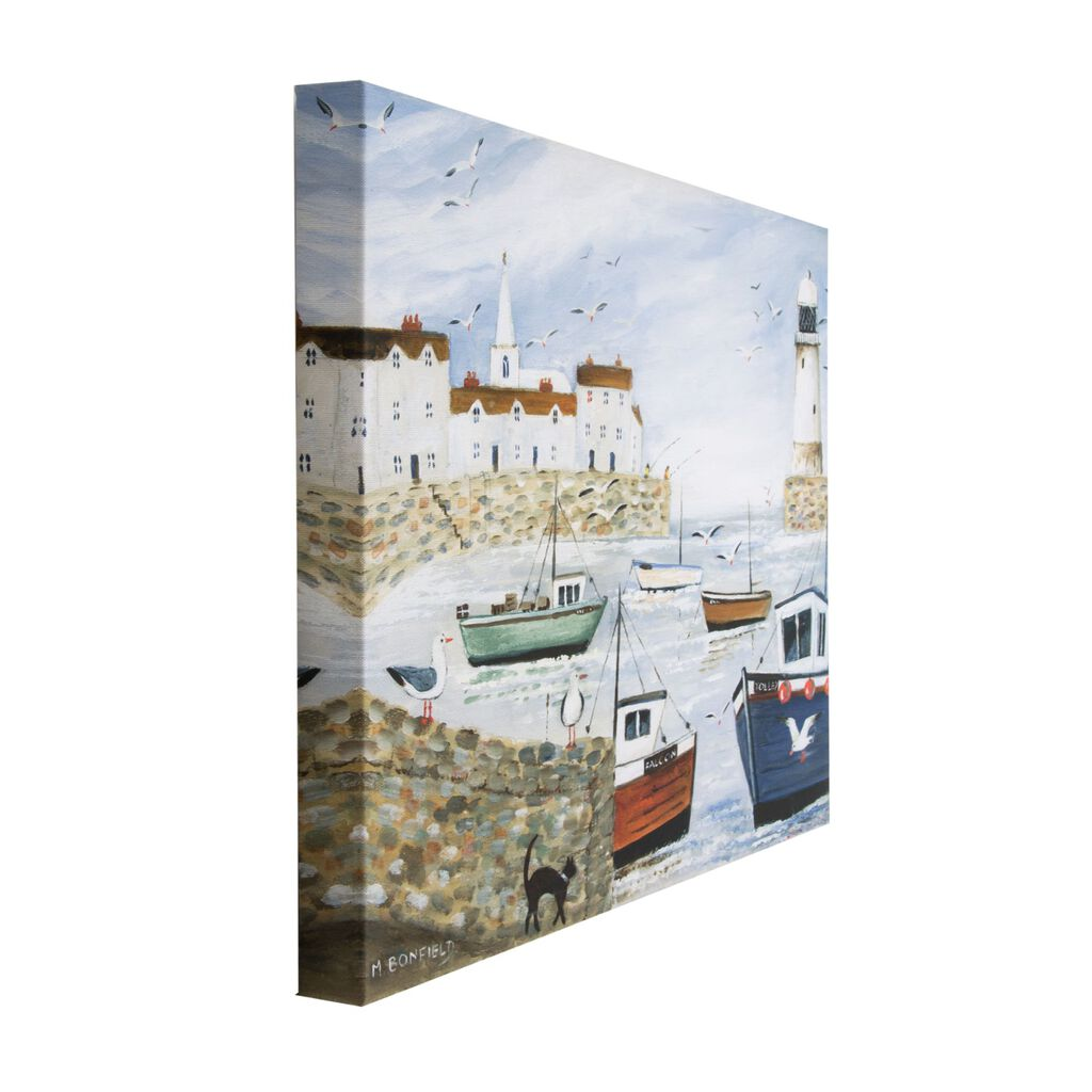 Harbourside Lighthouse Printed Canvas Wall Art, , large