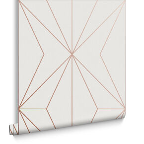 Harmony White Rose Gold Wallpaper, , large