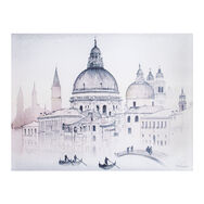 Venice Watercolour View Printed Canvas Wall Art, , large