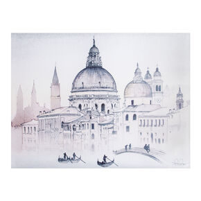 Venice Watercolour View Printed Canvas Wall Art , , large