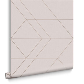Balance Blush & Rose Gold Wallpaper, , large