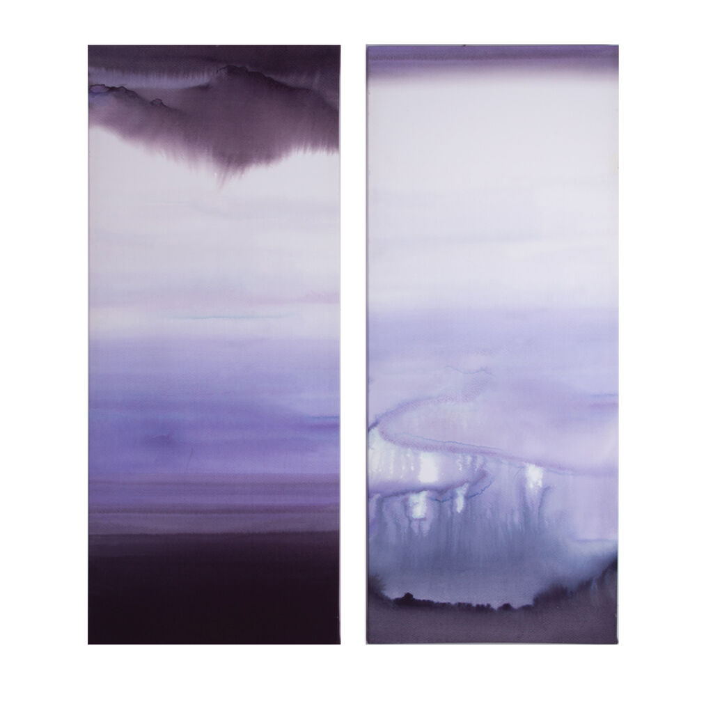 Serene Blue Haze Printed Canvas Wall Art, , large
