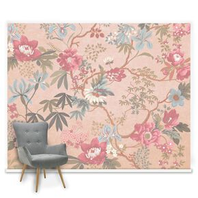 Couture Kimono Blush Ready Made Mural, , large