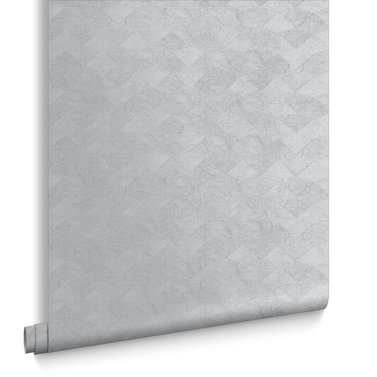 Tessellate Silver Wallpaper, , large