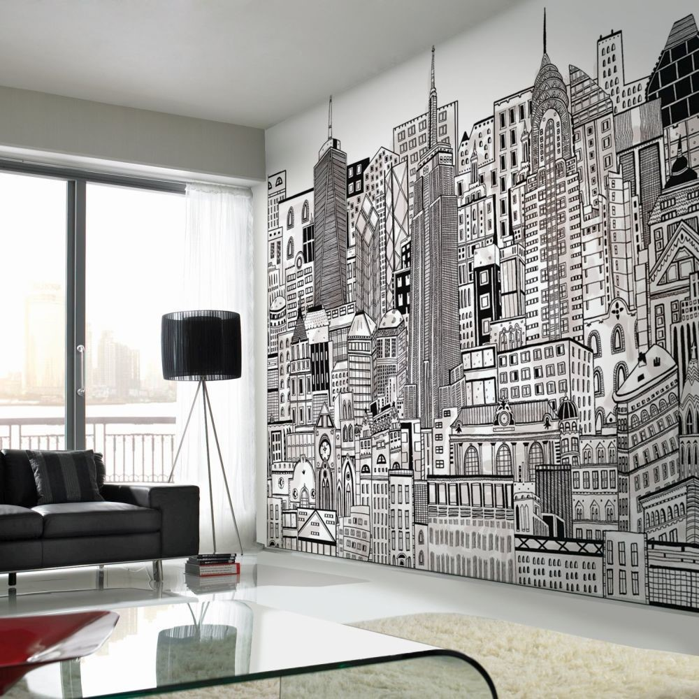 New York Bedroom Wallpaper Uk Bedroom Paint Ideas Tumblr Bedroom Color Ideas Pictures Mezzanine Bedroom Design Ideas: How To Add Cityscape Wallpaper To Your Home