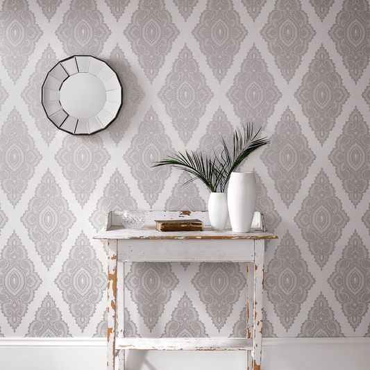how to style a room with glitter wallpaper