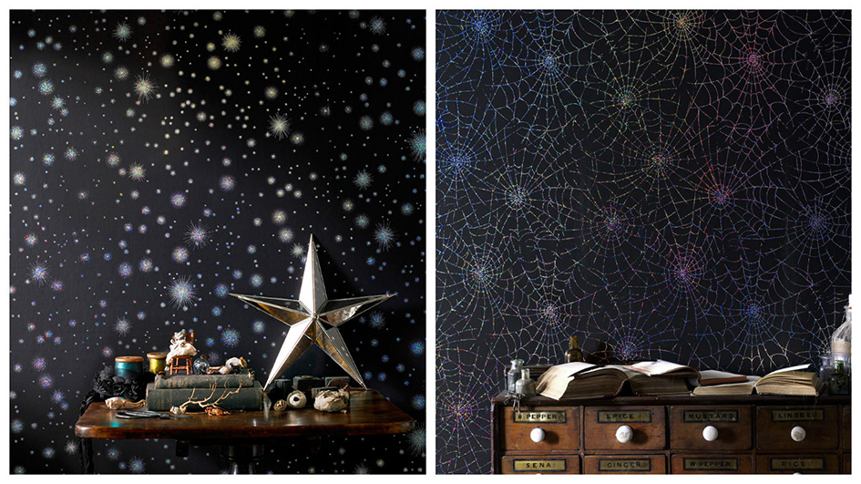 If you fancy going to the dark side, but you still need a little sparkle, our Midnight Stardust wallpaper is a fantastic choice.