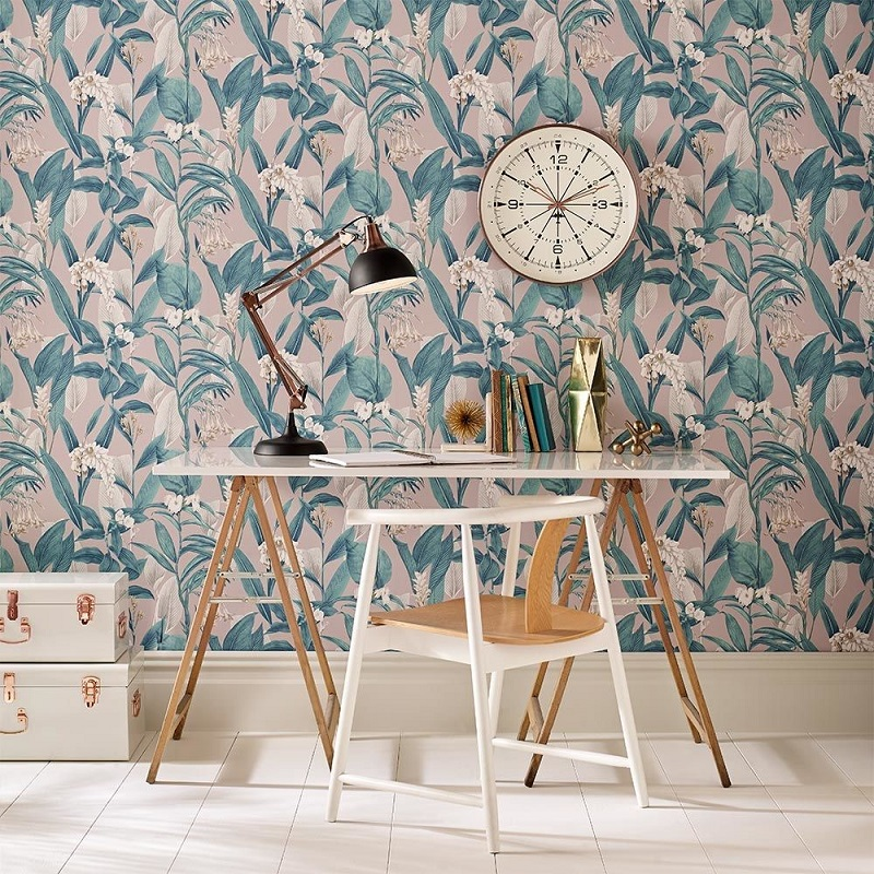 How To Create A Boho Space With Floral Wallpaper