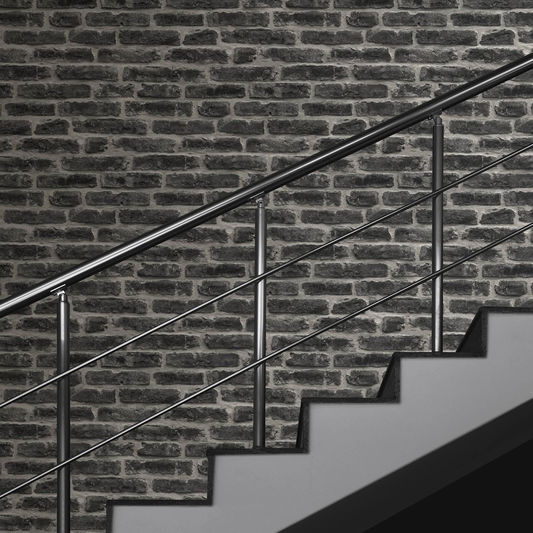 For A Look That Is Undeniably Cool Our Industry Noir Wallpaper Packs Serious Punch This Choice The Boldest Of All Brick Effect Wallpapers But If