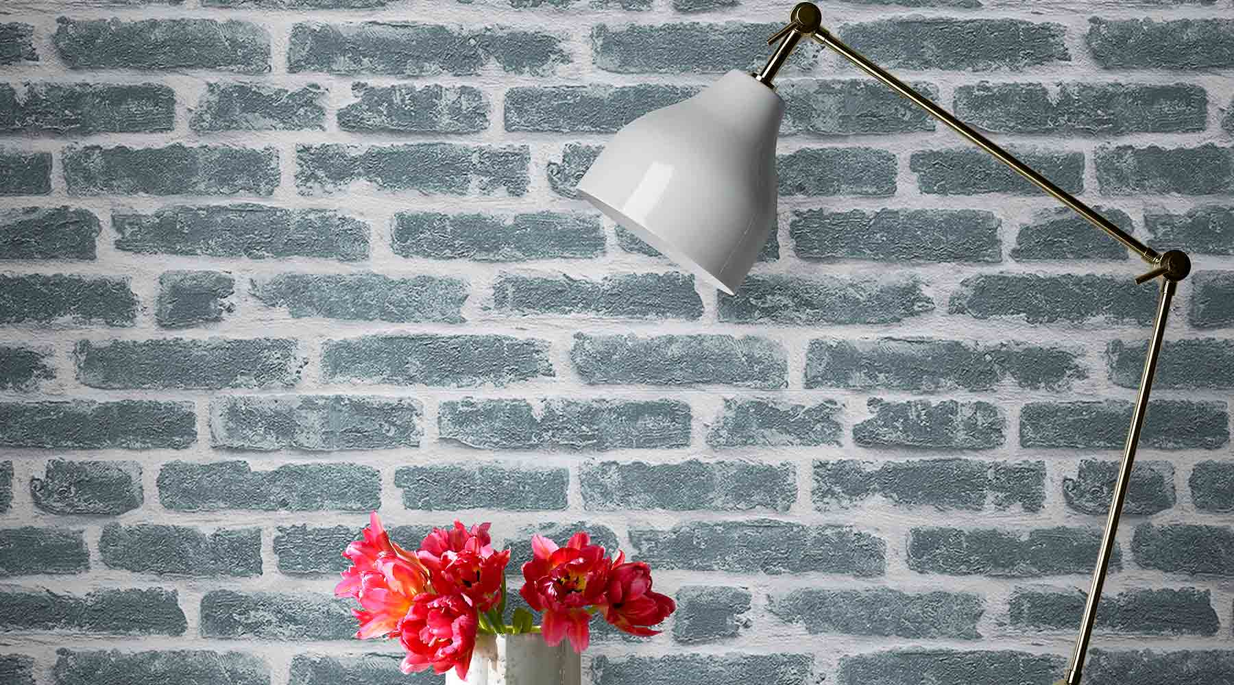 Get the look with 3D brick effect wallpaper