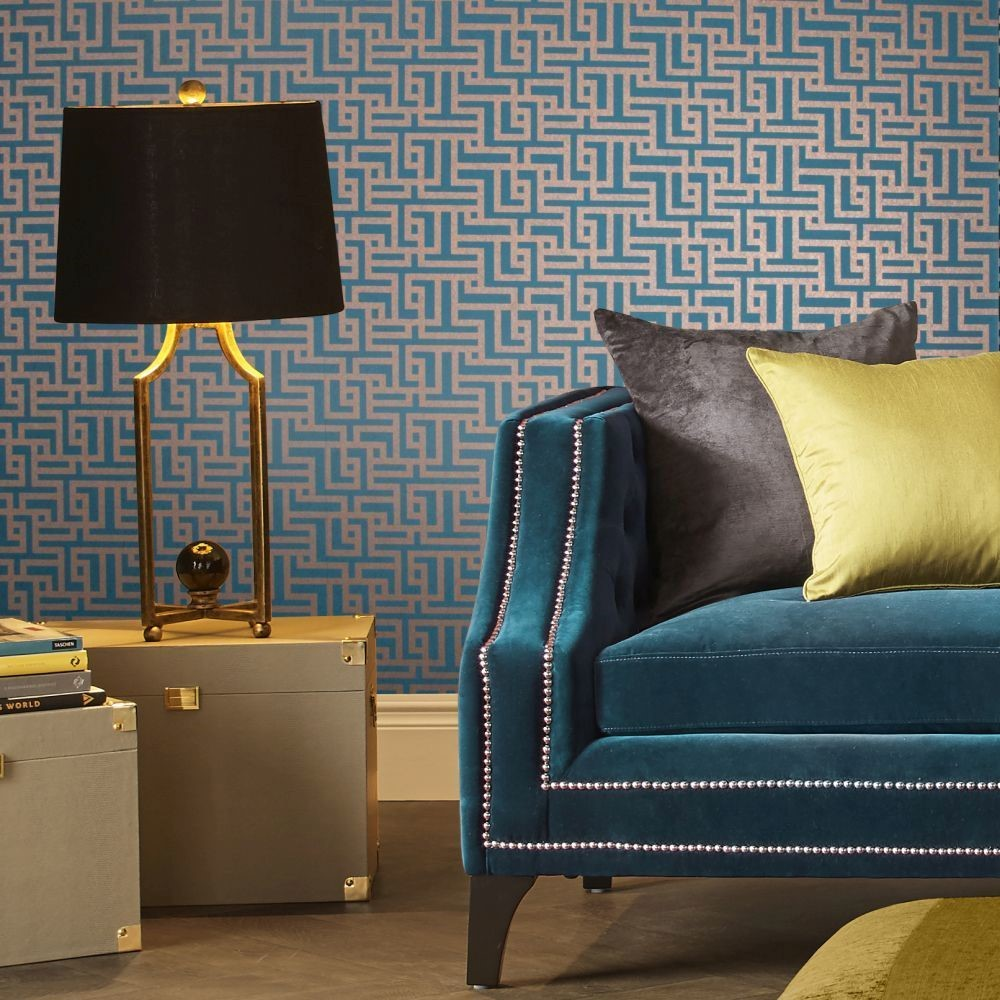 How to use geometric pattern wallpaper