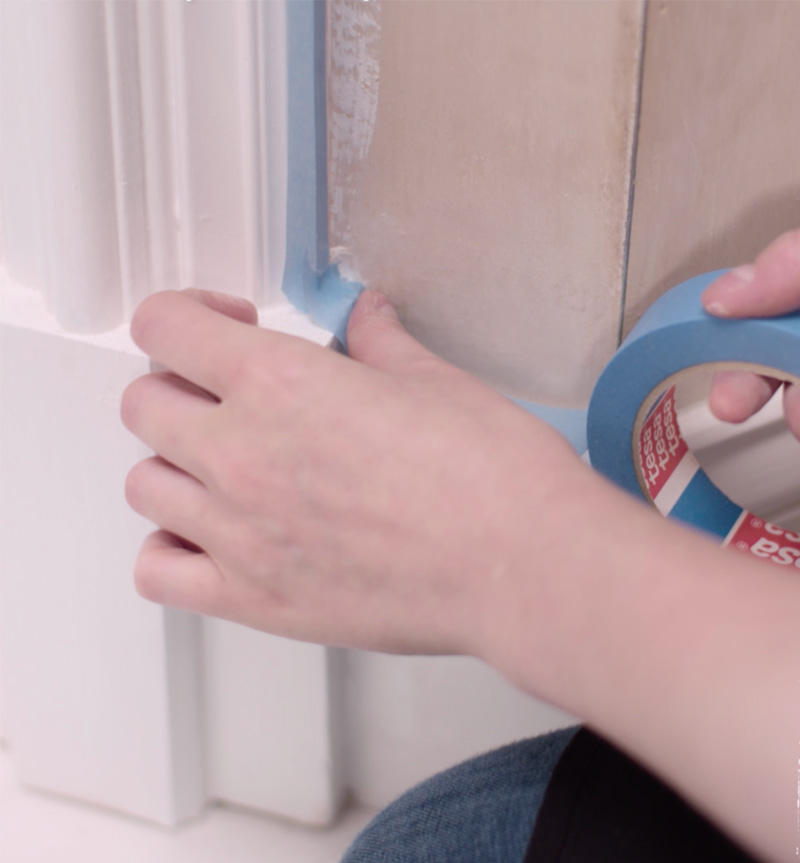 Tip - Secure with tape whilst painting