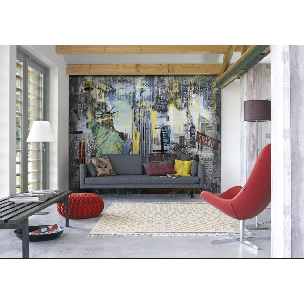 how to add cityscape wallpaper to your home graham brown