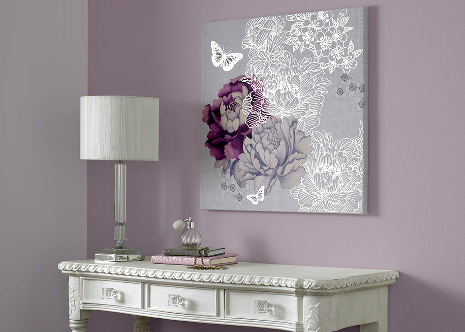 For Some Easy Extra Sparkle Consider Adding Touches Of Metallic Wall Art To Painted Walls Our Monsoon Fl Has A Stunning Silver Shine That Would Sit