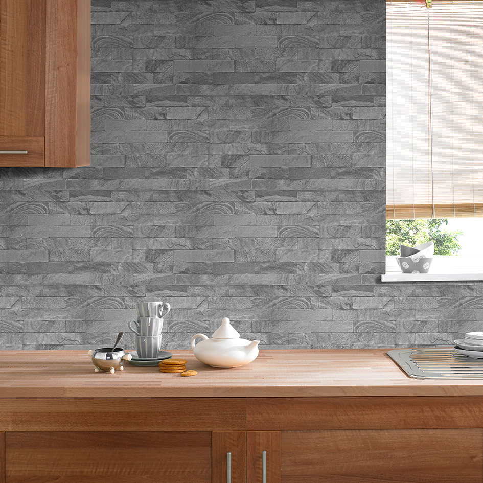 Simple Kitchen Wallpaper how to quickly decorate your kitchen & bathroom