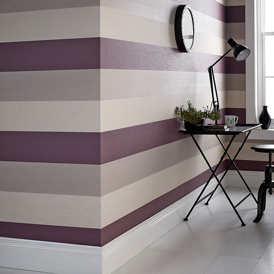 Interior design tips to create a cosy living room for Striped wallpaper living room ideas