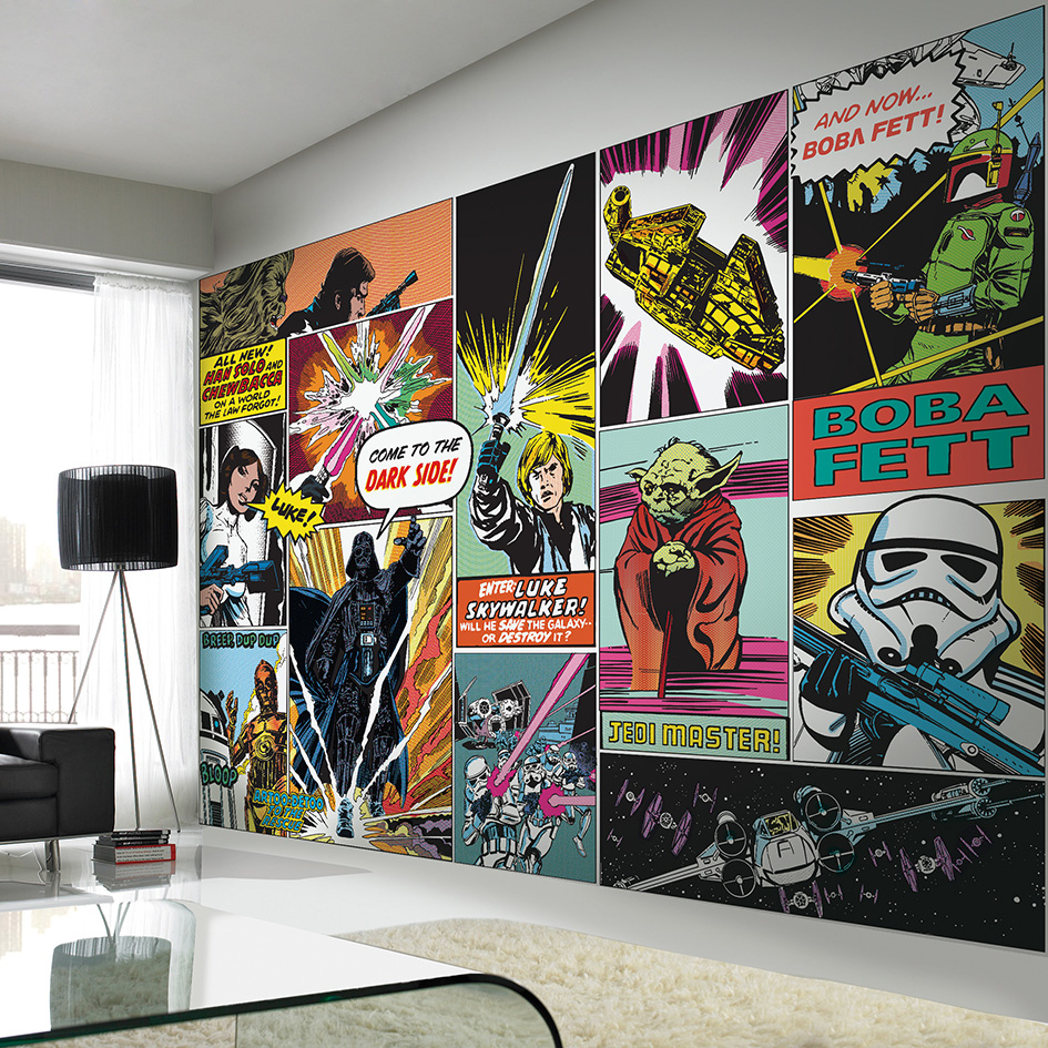 If You Really Wanted To Pay Homage The Original Films Why Not Add A Full Star Wars Mural Your Home This Incredible Comic Book Style Depicts
