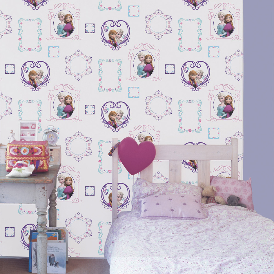 Pink And Purple Wallpaper For A Bedroom How To Recreate Frozen In Your Childs Room