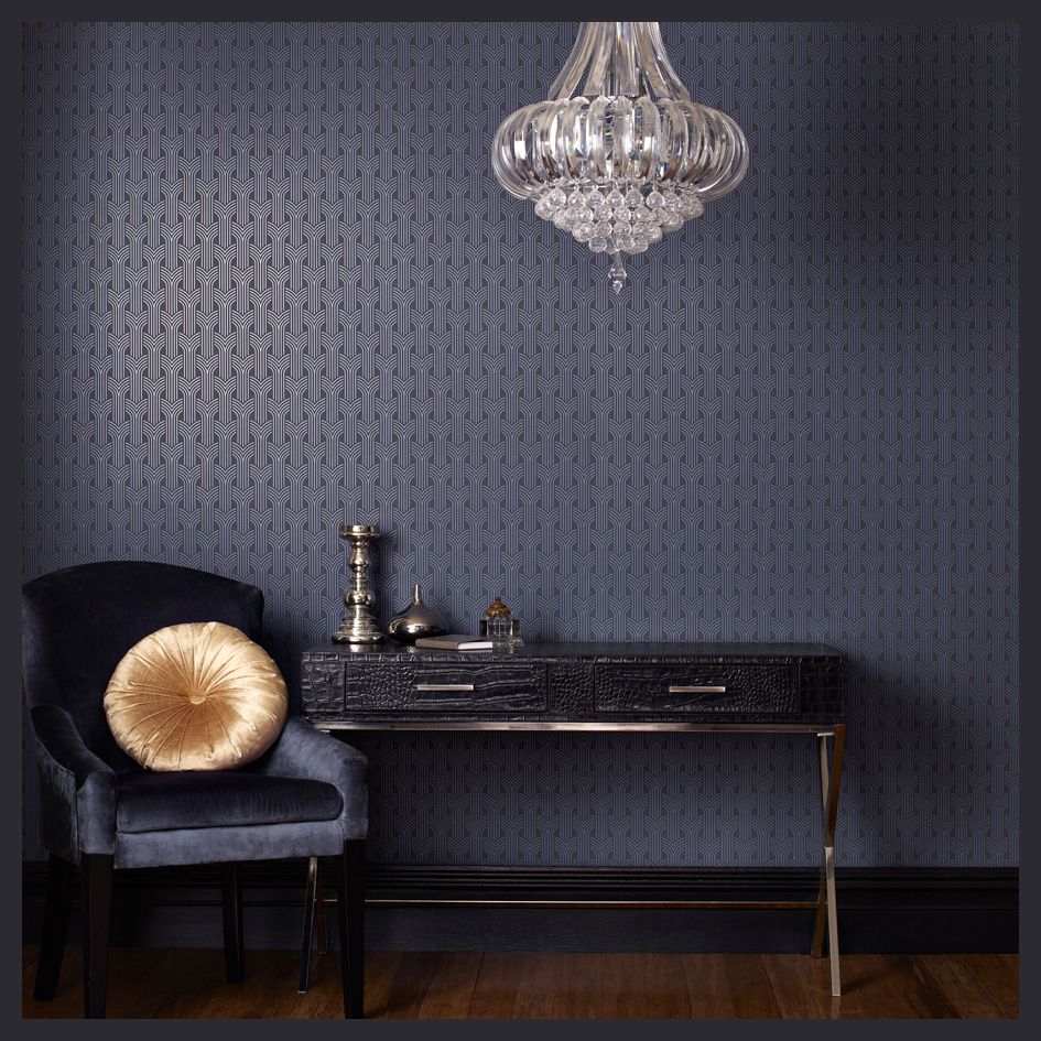wallpaper through the decades. Black Bedroom Furniture Sets. Home Design Ideas