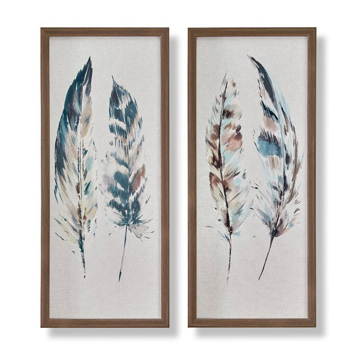 Painterly Feathers Canvas