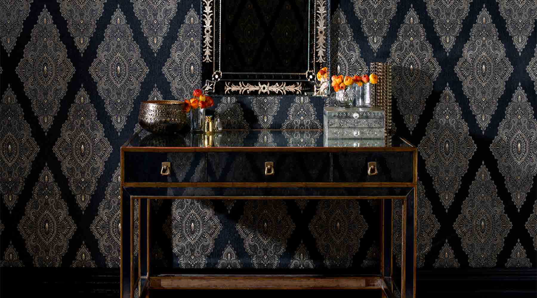 Why Black Wallpaper is all the Rage