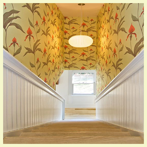 You Can Divide The Stairway Horizontally With Beadboard Wallpaper And An Extra Wide Chair Rail Or Simply Reface Risers Latter Offers Numerous