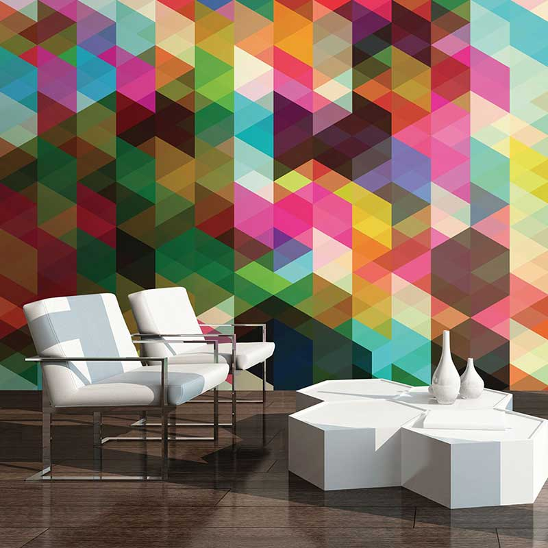 How to hang a wall mural