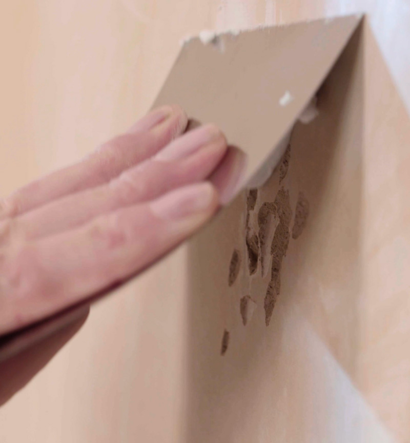 Step1 - Filling holes on the wall