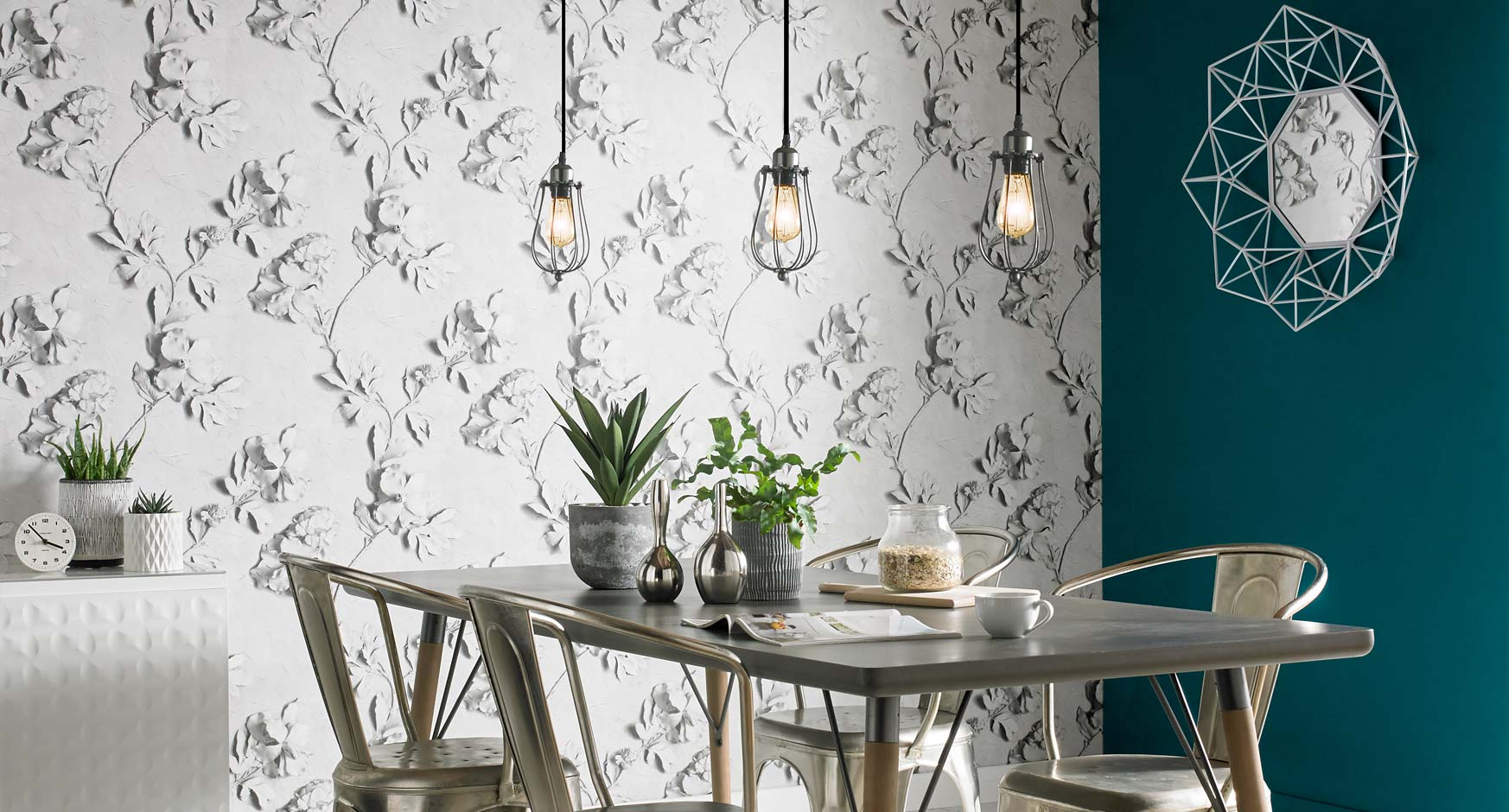 dining room wallpaper | dining room feature wall ideas