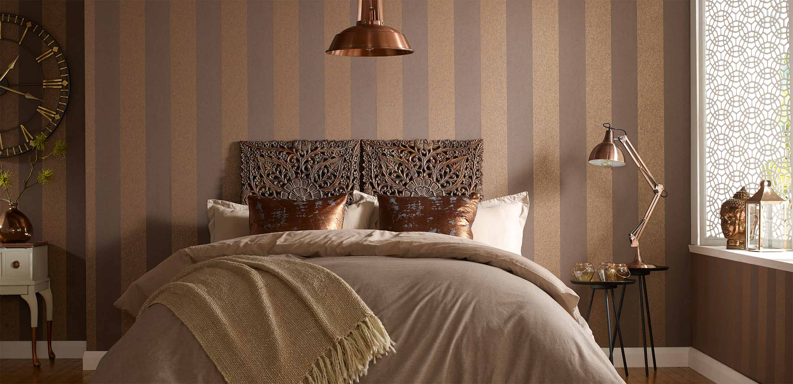 Bedroom ideas bedroom decorations graham brown for Wallpaper for bedrooms ideas