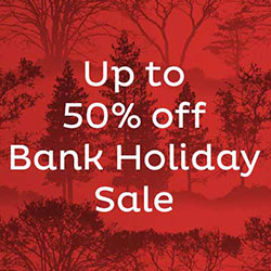 Up to 50% off - Bank Holiday Sale