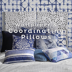 Wallpaper & Coordinating Pillows